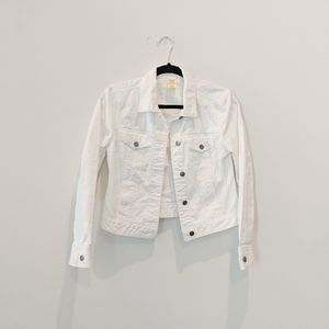 Faded Glory structured white jacket size small